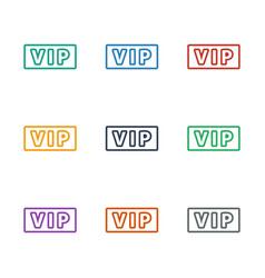 Vip icon white background vector