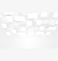White and grey abstract rectangles perspective vector