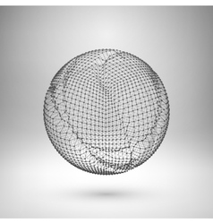 Wireframe mesh polygonal element Sphere with vector image