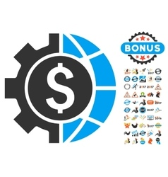 World Industry Finances Icon With 2017 Year Bonus vector