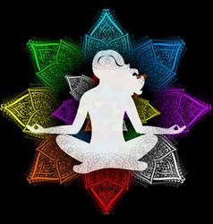 Yoga and chakras vector