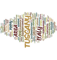 Your holiday in tuscany text background word vector