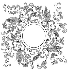 abstract floral lacy background vector image