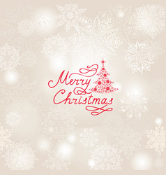 christmas holiday background with snow flakes vector image