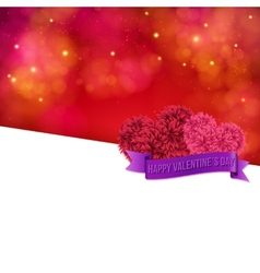 Colorful Valentines Day Card template vector image