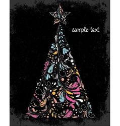 grunge christmas greeting card vector image vector image