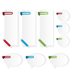 Labels stickers bubble speech vector image vector image