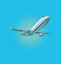 passenger plane in the sky vector image