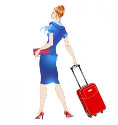 stewardess vector image