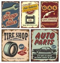 Vintage car signs vector