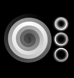 abstract spiral background black and white vector image