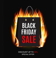 black friday sale inscription banner design vector image vector image