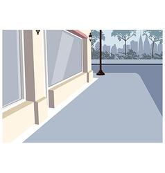 City Sidewalk Scene vector image vector image