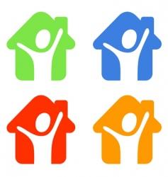 pictogram happy vector image vector image