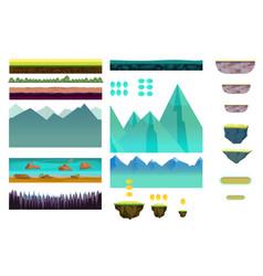 platformer game assetsset of game elements vector image