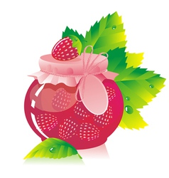strawberry jam vector image vector image