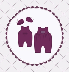 baby cloths vector image vector image