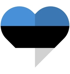Estonia flat heart flag vector image vector image