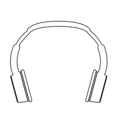 headphones the black color icon vector image vector image