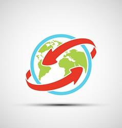arrows around planet earth vector image
