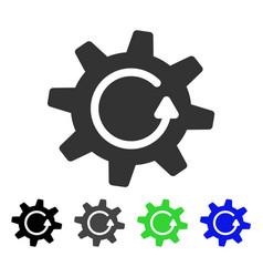Cogwheel rotation direction flat icon vector