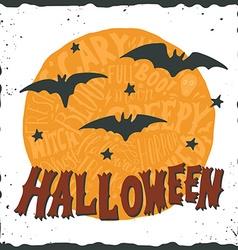 Hand drawn happy halloween greeting card vector