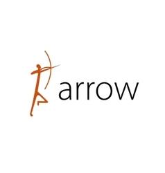 logo arrow vector image