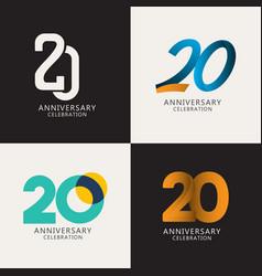20 years anniversary celebration compilation logo vector