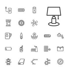 22 energy icons vector