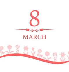 8 marta line vector image