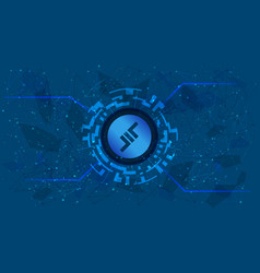 aave lend token symbol defi project vector image