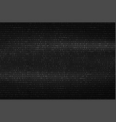 abstract binary code background black and white vector image