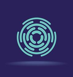 Abstract circle segments sign Construction logo vector
