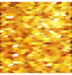 Abstract golden lowpoly designed background vector