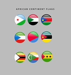 African flags vector
