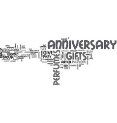 anniversary gift ideas for the husband text word vector image