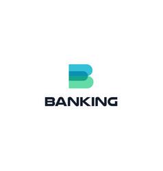 banking trade rate flat cartoon style logo vector image