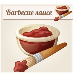 Barbecue sauce Detailed Icon vector
