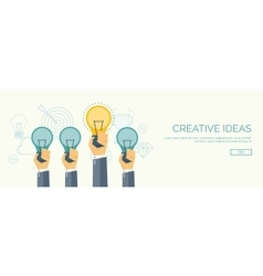 Be a leader Ideas generating Creativity and vector image