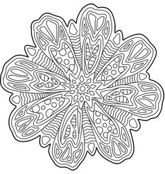 beautiful coloring book page with floral art vector image