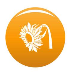 Beautiful sunflower icon orange vector
