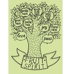 Biblical from the new Testament fruit vector image
