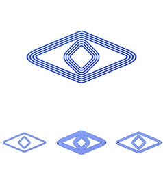 Blue line eye logo design set vector