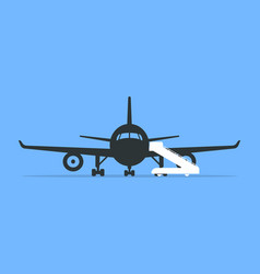 boarding an airplane vector image