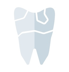 Broken tooth vector image