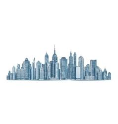 City skyline isolated on vector