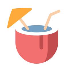 coconut juice flat vector image