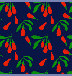 colorful seamless pattern with goji berries vector image