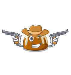 cowboy character traditional christmas pudding on vector image