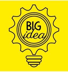 Creative big idea graphic vector